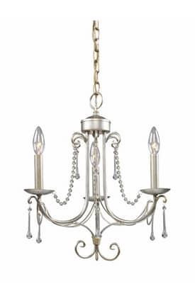 Elk Lighting Cambridge Cambridge 413-AS 3 Light Chandelier in Antique Silver Finish Lighting