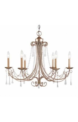 Elk Lighting Cambridge Cambridge 416-AS 6 Light Chandelier in Antique Silver Finish Lighting