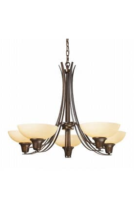 Elk Lighting Franklin Creek Franklin Creek 61005-5 5 Light Chandelier in Dark Umber Finish Lighting