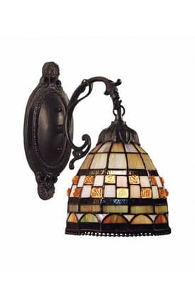 Elk Lighting Jewelstone Jewelstone 618-CB 1 Light Wall Sconce in Classic Bronze Finish Lighting
