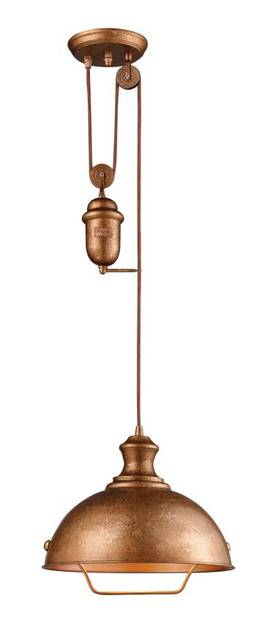Elk Lighting Farmhouse Farmhouse 65061-1 Pendant in Bellwether Copper Finish Lighting