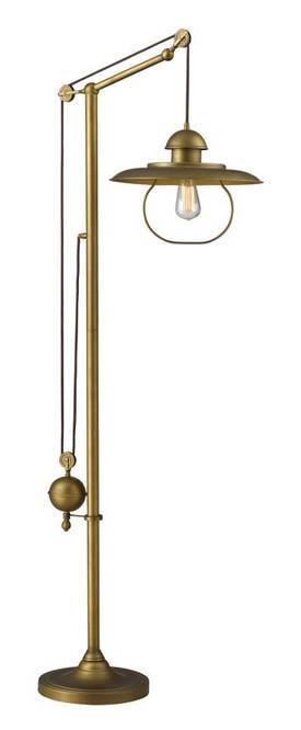 Elk Lighting Farmhouse Farmhouse 65101-1 Floor Lamp in Antique Brass Finish Lighting