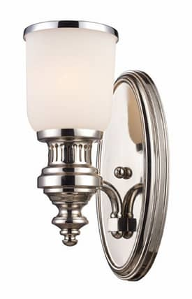 Elk Lighting Chadwick Chadwick 66110-1 1 Light Wall Sconce in Polished Nickel Finish Lighting