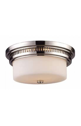 Elk Lighting Chadwick Chadwick 66111-2 Flush Mount in Polished Nickel Finish Lighting