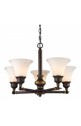 Elk Lighting Lurray Lurray 66177-5 5 Light Chandelier in Aged Bronze Finish Lighting