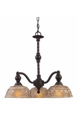 Elk Lighting Norwich Norwich 66196-3 3 Light Chandelier in Oiled Bronze Finish Lighting