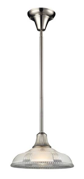 Elk Lighting Restoration Restoration 66207-1 Pendant in Satin Nickel Finish Lighting