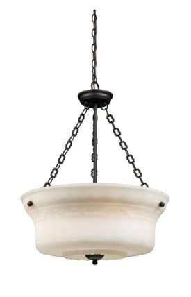 Elk Lighting Restoration Restorations 66323-4 4 Light Pendant in Aged Bronze Finish Lighting