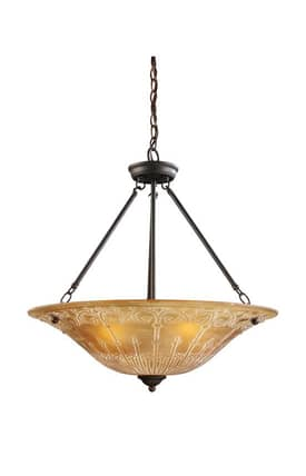 Elk Lighting Restoration Restorations 66342-4 4 Light Pendant in Aged Bronze Finish Lighting