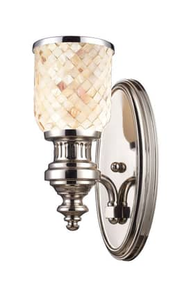 Elk Lighting Chadwick Chadwick 66410-1 Wall Sconce in Polished Nickel Finish Lighting