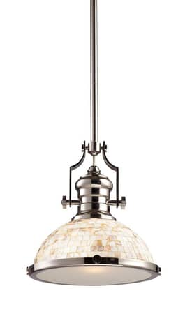 Elk Lighting Chadwick Chadwick 66413-1 Pendant in Polished Nickel Finish Lighting