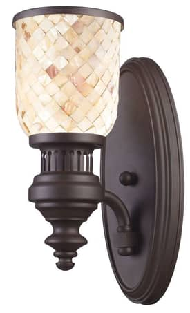 Elk Lighting Chadwick Chadwick 66430-1 Wall Sconce in Oiled Bronze Finish Lighting
