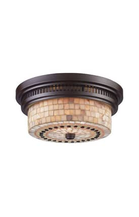 Elk Lighting Chadwick Chadwick 66431-2 2 Light Flush Mount in Oiled Bronze Finish Lighting