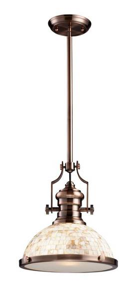 Elk Lighting Chadwick Chadwick 66443-1 Pendant in Antique Copper Finish Lighting