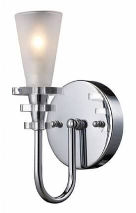 Elk Lighting Contemporary Contemporary 71014-1 1 Light Wall Sconce in Polished Chrome Finish Lighting