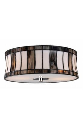 Elk Lighting Delgado Delgado 72041-2 Flush Mount in Black Chrome Finish Lighting