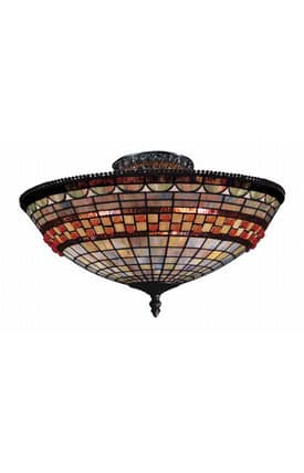 Elk Lighting Jewelstone Jewelstone 934-CB Semi Flush Mount in Classic Bronze Finish Lighting