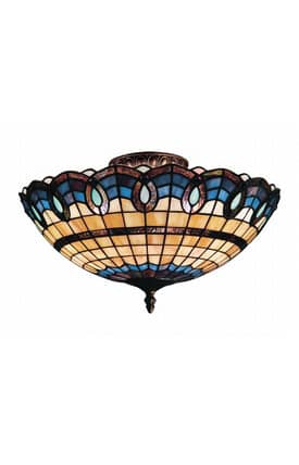 Elk Lighting Victorian Ribbon Victorian Ribbon 936-CB Semi Flush Mount in Classic Bronze Finish Lighting