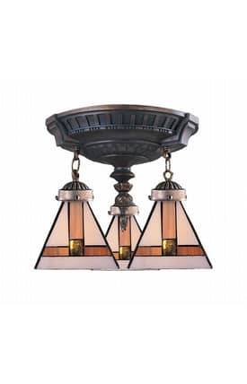 Elk Lighting Mix-N-Match Mix-N-Match 997-AW-01 Semi Flush Mount in Aged Walnut Finish Lighting