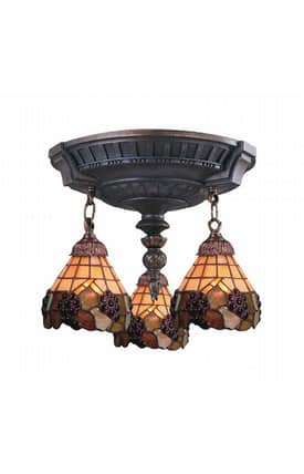 Elk Lighting Mix-N-Match Mix-N-Match 997-AW-07 Semi Flush Mount in Aged Walnut Finish Lighting