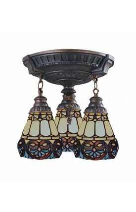 Elk Lighting Mix-N-Match Mix-N-Match 997-AW-21 Semi Flush Mount in Aged Walnut Finish Lighting