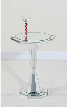 Ultimate Accents Tables Trenton Round Pedestal End Table Furniture