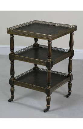 Ultimate Accents Tables Circa 3 Tiered Castored Side Table Furniture