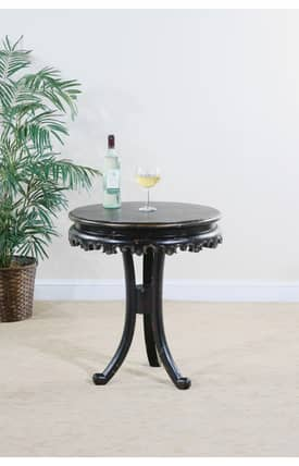 Ultimate Accents Tables Astoria Round Pedestal Base End Table Furniture