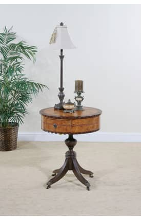 Ultimate Accents Tables Caldwell Pecan Burle End Table Furniture