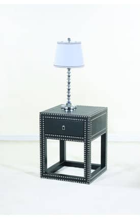 Ultimate Accents Tables Contempo Vinyl End Table Furniture