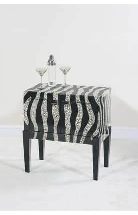 Ultimate Accents Tables Contempo Zebra Side Console Table Furniture