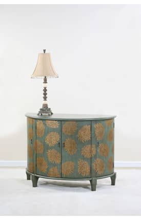Ultimate Accents Chests Beaucoup Chrysanthemum Demi Lune Furniture