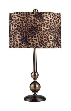 Sterling Industries Table Lamps Alliance 111-1097 Table Lamp In Smoked Glass Finish Lighting