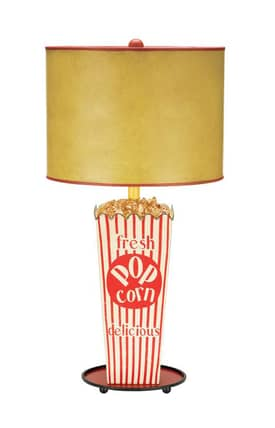 Sterling Industries Table Lamps Movie Snack 84-026 Table Lamp In Red Lighting