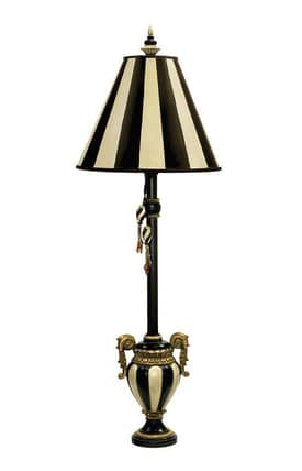 Sterling Industries Table Lamps Carnival Stripe 91-234 Table Lamp In Black Lighting