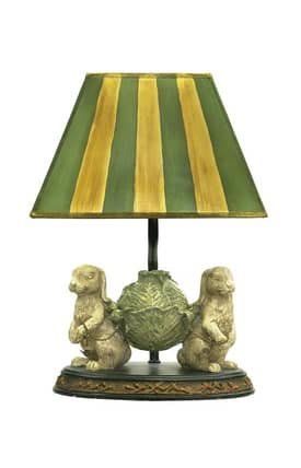 Sterling Industries Table Lamps Bunnies Bearing Dinner 91-277 Table Lamp In Green Lighting