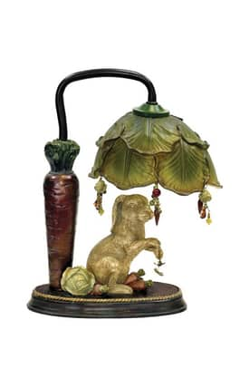 Sterling Industries Table Lamps Rabbit Under Leaf 91-297 Table Lamp In Bronze Lighting