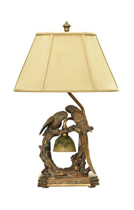 Sterling Industries Table Lamps Twin Parrots 91-507 Table Lamp In Gold Lighting