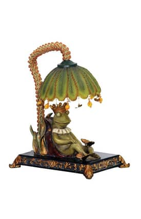Sterling Industries Table Lamps Sleeping King Frog 91-740 Table Lamp In Multi Lighting
