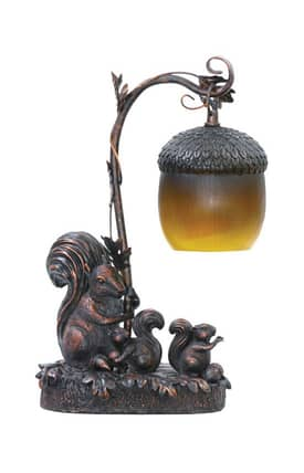 Sterling Industries Table Lamps Squirrel Acorn Light 91-768 Table Lamp In Black Lighting