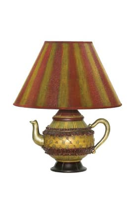 Sterling Industries Table Lamps Tolbert Teapot 91-782 Table Lamp In Gold Lighting