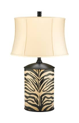 Sterling Industries Table Lamps Zebra Cannister 91-977 Table Lamp In Black Lighting