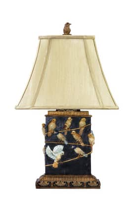 Sterling Industries Table Lamps Birds On Branch 93-530 Table Lamp In Black Lighting