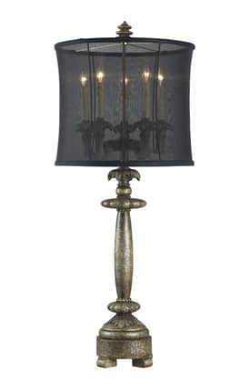 Sterling Industries Table Lamps Grand Junction 93-9127 Table Lamp In Dark Silver Finish Lighting