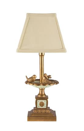 Sterling Industries Table Lamps Bird Bath Bookshelf Candlestick 93-935 Table Lamp In Brown Lighting