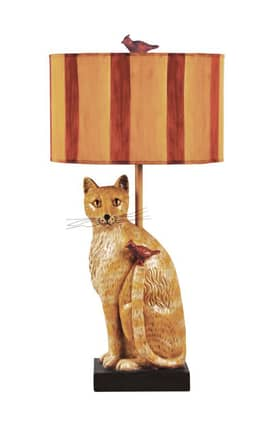 Sterling Industries Table Lamps Cats Meow 93-953 Table Lamp In Orange Lighting