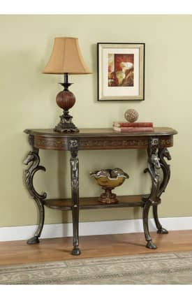 Powell Company Tables Masterpiece Floral Demilune Console Table Furniture