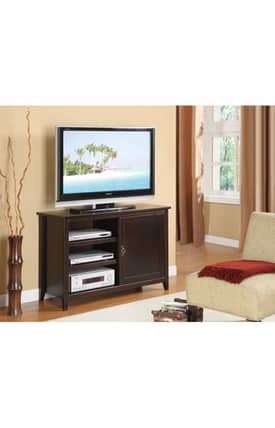 Powell Company TV Stands Espresso Media Console Furniture