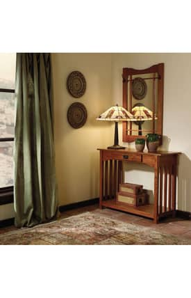 Powell Company Tables Mission Oak Console And Mirror Furniture