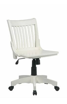 Office Star Chairs OSP designs Seating Deluxe Armless Wood Bankers Chair with Wood Seat Furniture